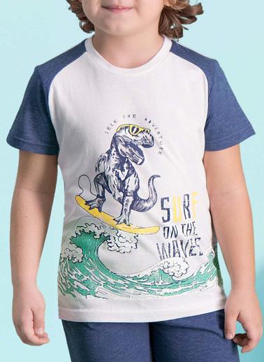 Roly Poly Rolypoly Surf Wawes Erkek Çocuk Bermuda Takım Krem